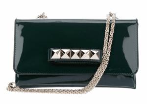 Valentino Green Patent Va Va Voom Clutch Bag