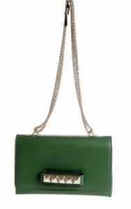 Valentino Green Va Va Voom Clutch Bag