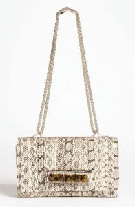 Valentino Light Ivory Snakeskin Va Va Voom Clutch Bag