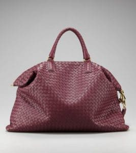 Bottega Veneta Burgundy Intrecciato Nappa Convertible Bag