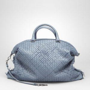 Bottega Veneta Krim Intrecciato Profondo Nappa Convertible Bag