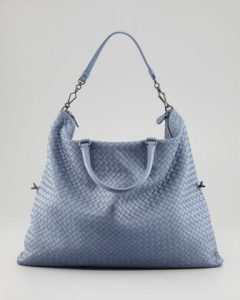 Bottega Veneta Light Blue Intrecciato Nappa Convertible Bag 1