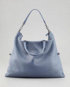 b166b75b38ad Bottega Veneta Light Blue Intrecciato Nappa Convertible Bag 1
