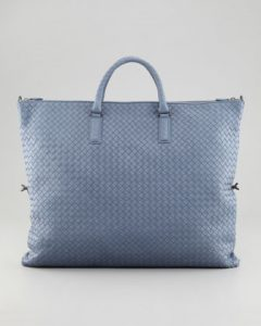 Bottega Veneta Light Blue Intrecciato Nappa Convertible Bag 3