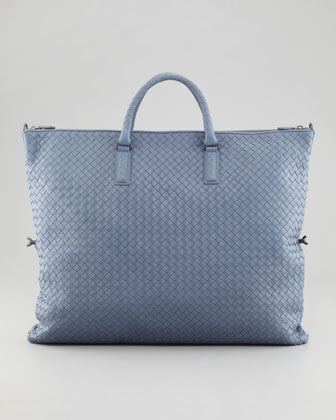 f5f1e70da5a2 Bottega Veneta Light Blue Intrecciato Nappa Convertible Bag 3