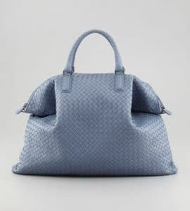 Bottega Veneta Light Blue Intrecciato Nappa Convertible Bag