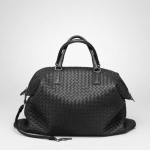 Bottega Veneta Nero Intrecciato Napa Convertible Bag