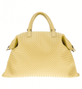 Bottega Veneta Yellow Intrecciato Nappa Convertible Bag