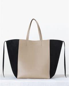 Celine Beige Bicolor Phantom Cabas Tote bag - Fall 2013