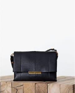 Celine Blade Black Python Calfskin Flap Bag - Fall 2013