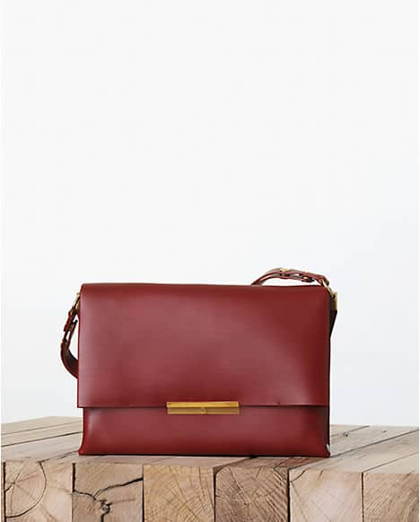Celine Blade Palmelato Calfskin Flap Bag Fall 2017