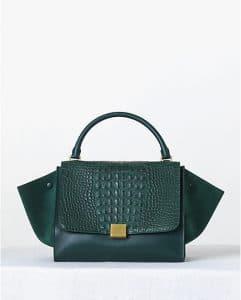 Celine Crocodile Emerald Trapeze Bag - Fall 2013