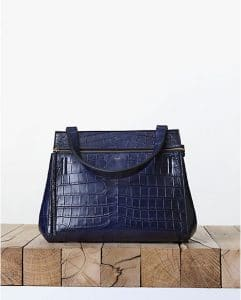 Celine Dark Blue Crocodile Edge Bag - Fall 2013