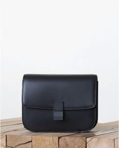 Celine Lacquered Black on Black Box Bag - Fall 2013