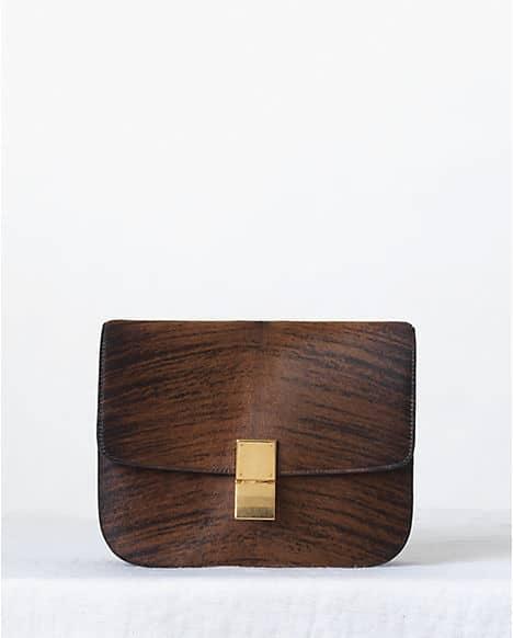 celine brown box bag
