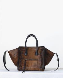 Celine Shaded Pony Calfskin Brown Phantom Bag - Fall 2013