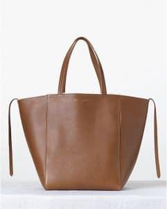 Celine Tan Shearling Phantom Cabas Tote Bag - Fall 2013