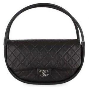Chanel Black Hula Hoop Medium Bag