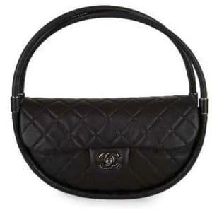 Chanel Black Hula Hoop Small Bag