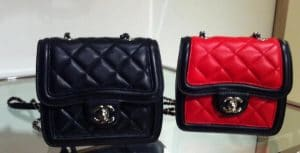 Chanel Black and Red Graphic Mini Flap Bags