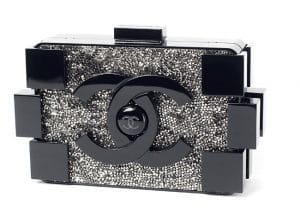 Chanel Black/Crystals Lego Clutch Bag - Fall 2013