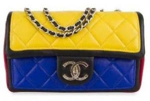 Chanel Black/Red/Yellow/Blue Graphic Flap Bag