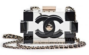 Chanel Black/Transparent Lego Clutch Bag - Spring 2013
