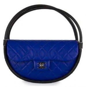 Chanel Dark Blue / Black Hula Hoop Small Bag