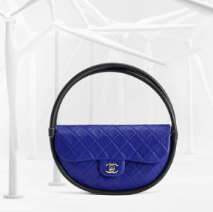 Chanel Dark Blue / Black Hula Hoop Medium Bag