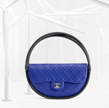 Chanel Dark Blue   Black Hula Hoop Medium Bag 8ae2d69a9aba9