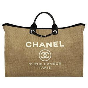 Chanel Ecru Deauville Tote Extra Large Bag