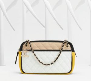 Chanel Beige/White/Black/Yellow Graphic Camera Case Bag