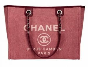 Chanel Red Deauville Tote Medium Bag