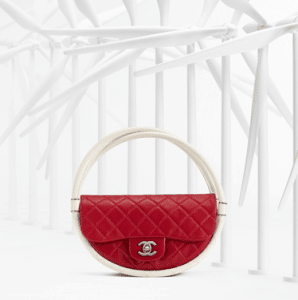 Chanel Red / White Hula Hoop Small Bag