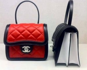 Chanel Red and Black Graphic Mini Flap Bags