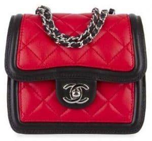 Chanel Red/Black Graphic Mini Flap Bag
