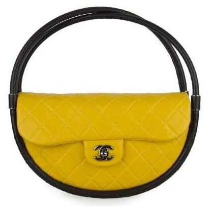 Chanel Yellow   Black Hula Hoop Small Bag 7a0698212ee49