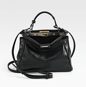 Fendi Black Peekaboo Mini Bag 1