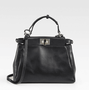 Fendi Black Peekaboo Mini Bag 2
