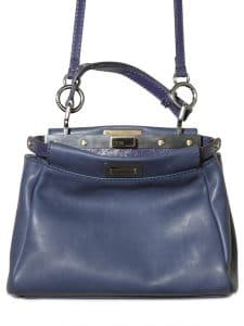 Fendi Blue Peekaboo Mini Bag