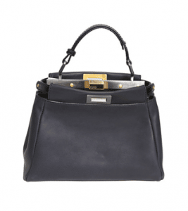 Fendi Dark Grey Peekaboo Mini Bag