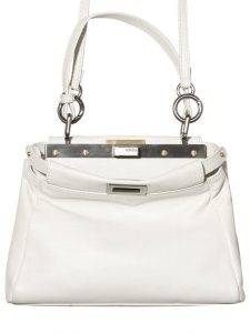 Fendi White Peekaboo Mini Bag