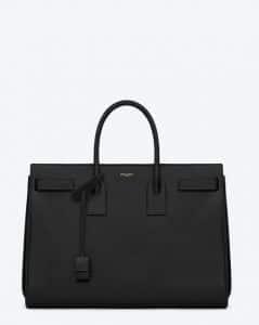 Saint Laurent Black Classic Sac De Jour Bag
