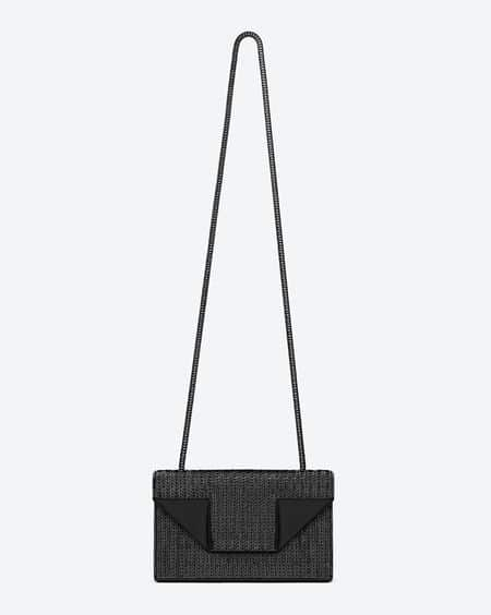 Saint Laurent Black Sequins and Leather Betty Mini Bag b4745820aad50
