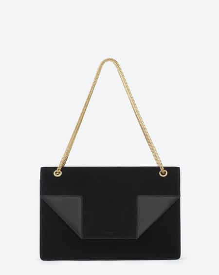 27e6c8a83e315 Saint Laurent Black Suede and Leather Betty Medium Bag