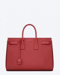 Saint Laurent Red Classic Sac De Jour Bag
