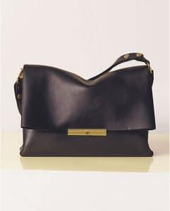 Celine Black Palmelato Calfskin Blade Bag