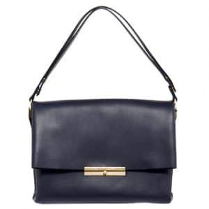 Celine Navy Calfskin Blade Bag