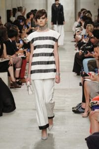 Chanel White with Black Trim Flap Bag - Cruise 2014 Runway