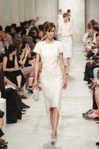 Chanel White/Gold Embellished Medium Flap Bag - Cruise 2014 Runway